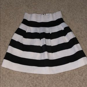 Dresses & Skirts - New  and White Striped Skirt Size M